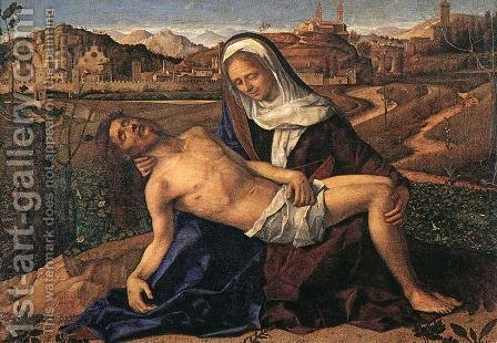 Pietà 1505 by Giovanni Bellini - Reproduction Oil Painting