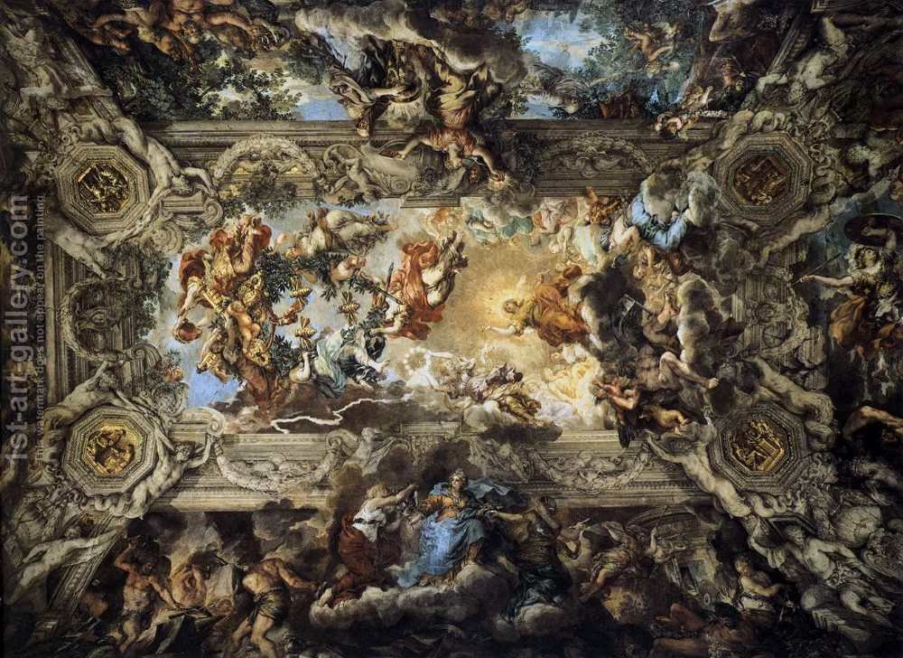 Huge version of The Triumph of Divine Providence 1633-39 2