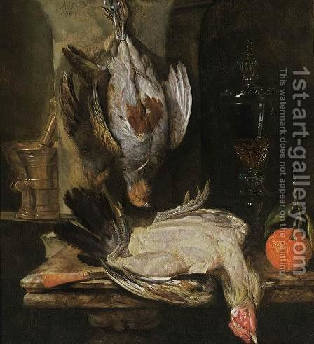Still-Life 1664 by Abraham Hendrickz Van Beyeren - Reproduction Oil Painting