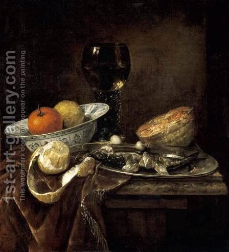 Still-Life by Abraham Hendrickz Van Beyeren - Reproduction Oil Painting