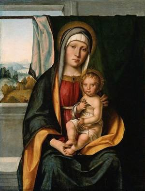 Reproduction oil paintings - Boccaccio Boccaccino - Virgin and Child 1500–05