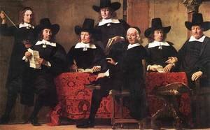 Famous paintings of Furniture: Governors of the Wine Merchant's Guild