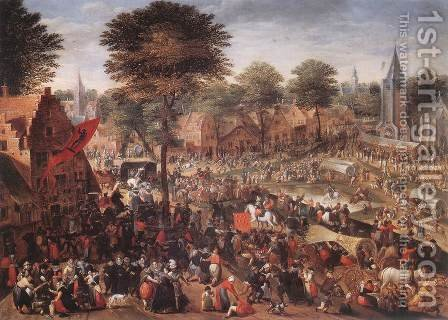 Village Feast (Annual Fair) by Hans Bol - Reproduction Oil Painting