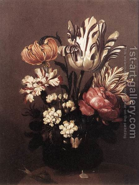 Flower Piece 1644 by Hans Bollongier - Reproduction Oil Painting
