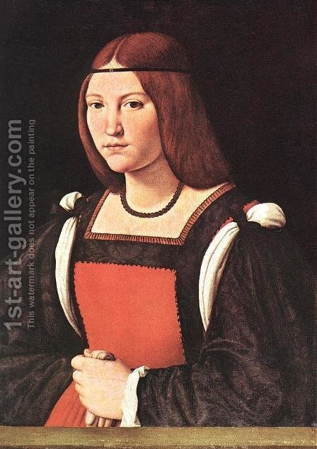 Portrait of a Young Woman by Giovanni Antonio Boltraffio - Reproduction Oil Painting