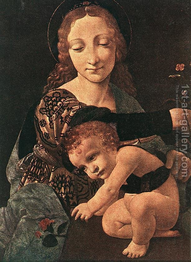 Huge version of Virgin and Child with a Flower Vase (detail)