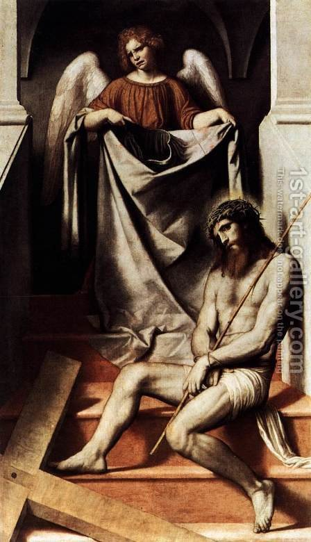 Ecce Homo 1550-54 by Alessandro Bonvicino (Moretto da Brescia) - Reproduction Oil Painting