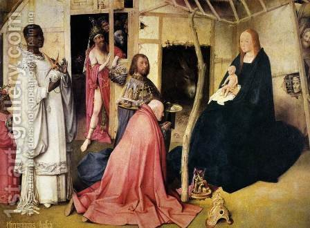 Adoration of the Magi (detail 1) c. 1510 by Hieronymous Bosch - Reproduction Oil Painting