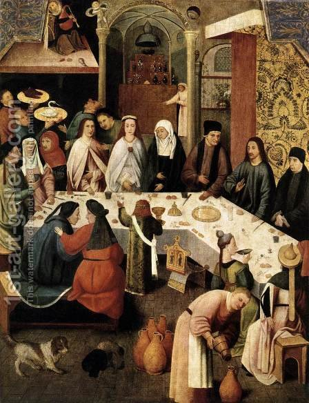 Marriage Feast at Cana by Hieronymous Bosch - Reproduction Oil Painting