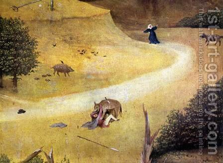St Agnes with the Donor (right wing, detail) c. 1510 by Hieronymous Bosch - Reproduction Oil Painting