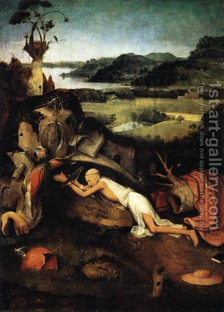 St Jerome in Prayer c. 1505 by Hieronymous Bosch - Reproduction Oil Painting