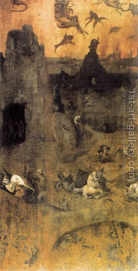 The Fall of the Rebel Angels (obverse) 1500-04 by Hieronymous Bosch - Reproduction Oil Painting