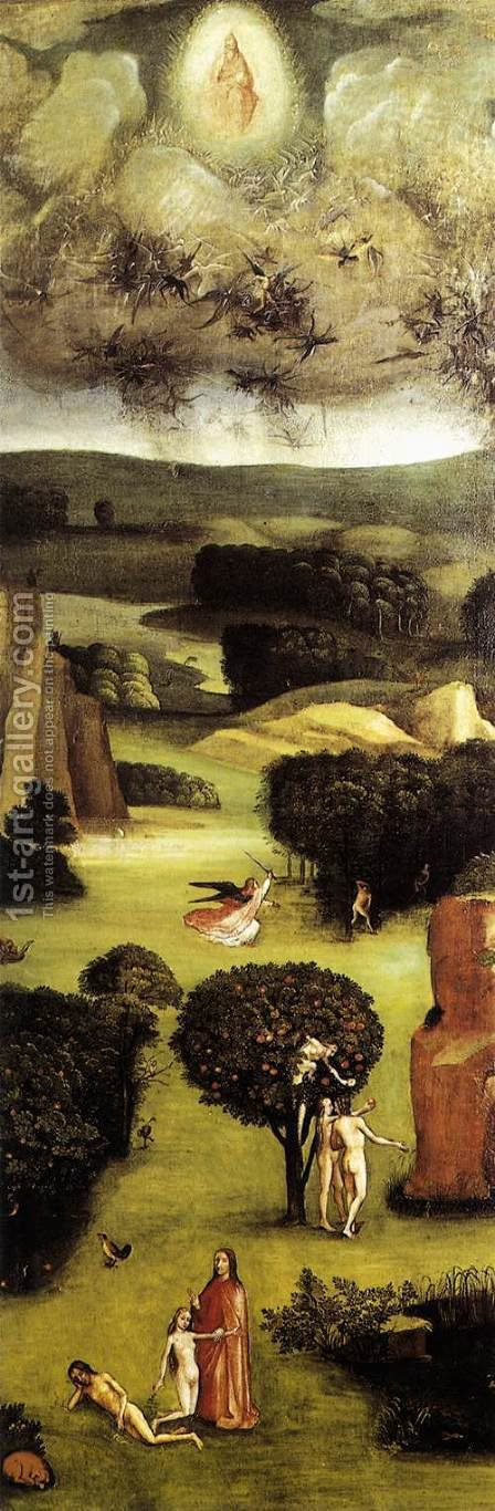 Triptych of Last Judgement (left wing) by Hieronymous Bosch - Reproduction Oil Painting