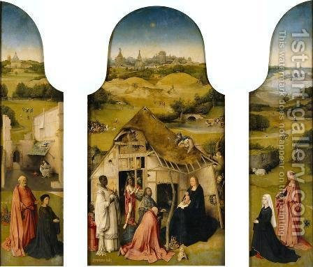 Triptych of the Adoration of the Magi 1510 by Hieronymous Bosch - Reproduction Oil Painting