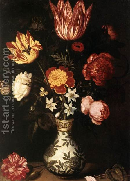 Flower Piece by Ambrosius the Elder Bosschaert - Reproduction Oil Painting