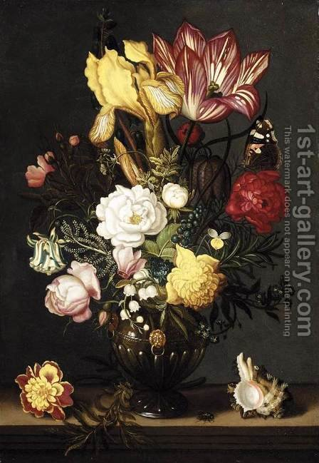 Still-Life 1627 by Ambrosius the Younger Bosschaert - Reproduction Oil Painting