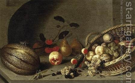 Still-Life of Fruit 1634-35 by Ambrosius the Younger Bosschaert - Reproduction Oil Painting