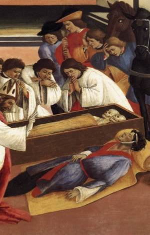 Famous paintings of Skeletons: Three Miracles of St Zenobius (detail) 1500-05
