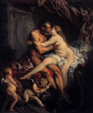 Rococo painting reproductions: Hercules and Omphale 1735