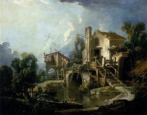 Famous paintings of Mills: The Mill at Charenton 1750s
