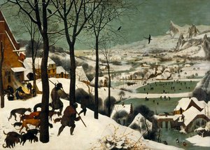 Famous paintings of Animals: The Hunters in the Snow (Winter) 1565