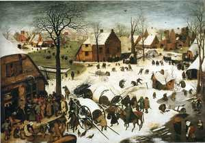 Famous paintings of Villages: The Numbering at Bethlehem 1566