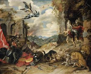 Famous paintings of Antelope: Allegory of War 1640s