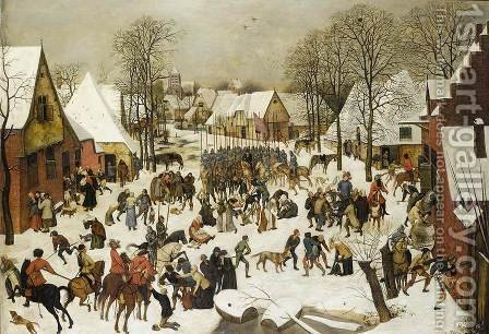 Pieter The Younger Brueghel: Massacre of the Innocents 1610s - reproduction oil painting