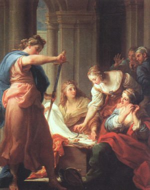 Rococo painting reproductions: Achilles at the Court of Lycomedes, 1745