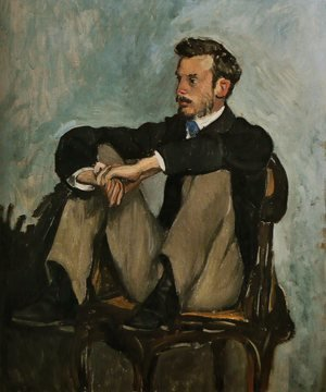 Frederic Bazille reproductions - Portrait of Renoir 1867