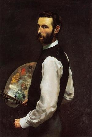 Frederic Bazille reproductions - Self-Portrait 1865-66