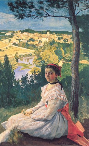 Reproduction oil paintings - Frederic Bazille - View of the Village 1868