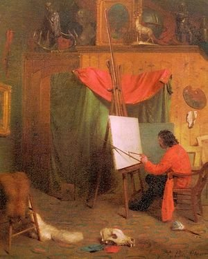 Self-Portrait in the Studio 1860s