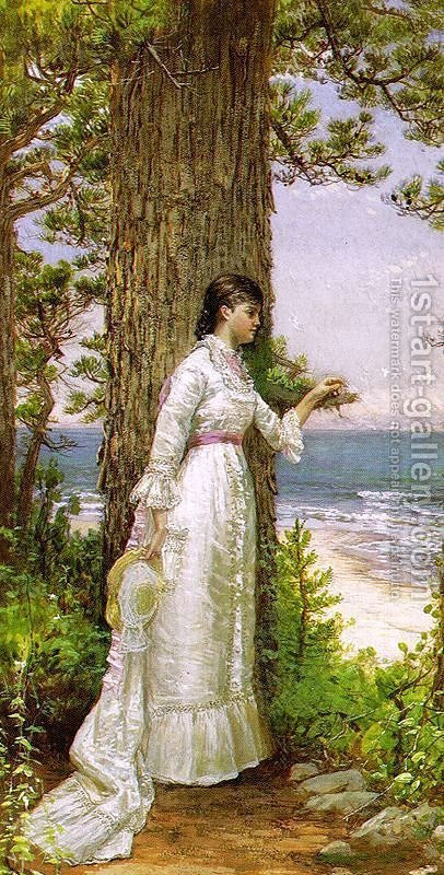 Under the Seaside Tree by Alfred Thompson Bricher - Reproduction Oil Painting