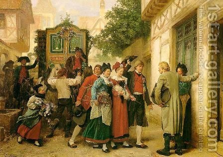 Wedding Procession 1873 by Gustav Brion - Reproduction Oil Painting