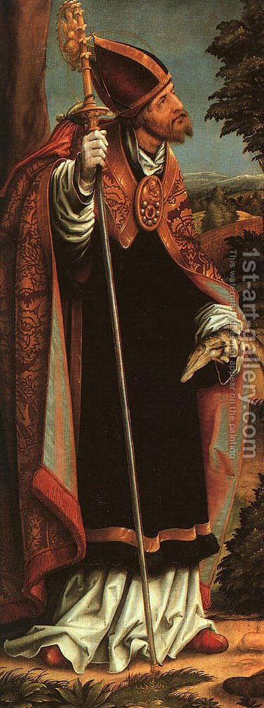 St. Ulrich 1518 by Hans, the elder Burgkmair - Reproduction Oil Painting