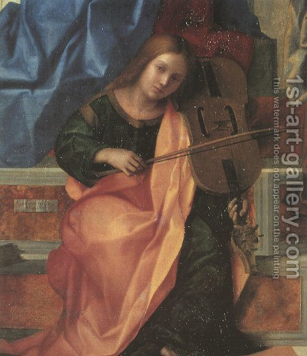 San Zaccaria Altarpiece (detail) by Giovanni Bellini - Reproduction Oil Painting