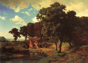Famous paintings of Mills: Rustic Mill 1855