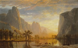 Albert Bierstadt reproductions - Valley of the Yosemite 1864