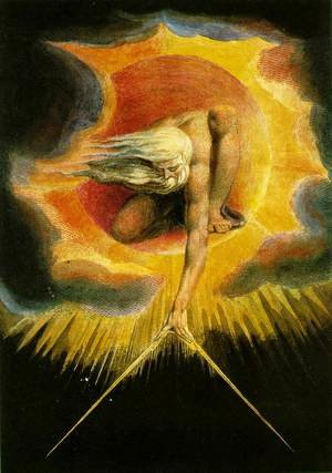 Reproduction oil paintings - William Blake - God as an Architect, illustration from The Ancient of Days 1794