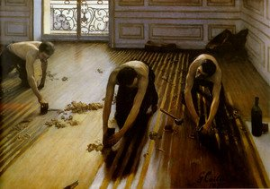 Famous paintings of People: The Floor Scrapers 1875
