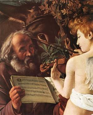Reproduction oil paintings - Caravaggio - Rest on Flight to Egypt (detail 1) 1596-97