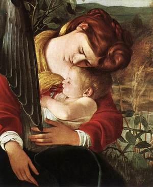Reproduction oil paintings - Caravaggio - Rest on Flight to Egypt (detail 2) 1596-97