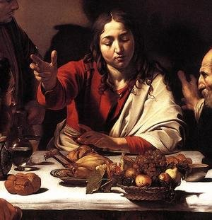 Reproduction oil paintings - Caravaggio - Supper at Emmaus (detail 1) 1601-02