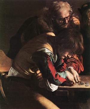Reproduction oil paintings - Caravaggio - The Calling of Saint Matthew (detail 1) 1599-1600