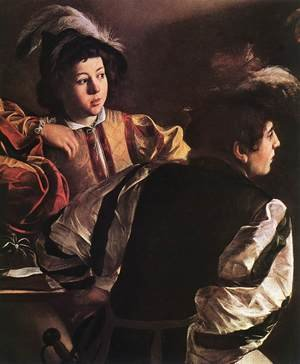 Reproduction oil paintings - Caravaggio - The Calling of Saint Matthew (detail 2) 1599-1600
