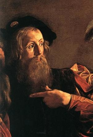 Reproduction oil paintings - Caravaggio - The Calling of Saint Matthew (detail 4) 1599-1600