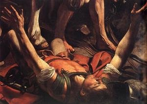 Reproduction oil paintings - Caravaggio - The Conversion on the Way to Damascus (detail) 1600