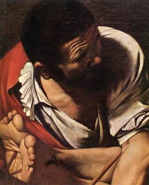 Reproduction oil paintings - Caravaggio - The Crucifixion of Saint Peter (detail 1) 1600