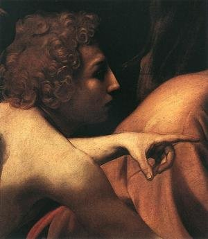 Reproduction oil paintings - Caravaggio - The Sacrifice of Isaac (detail 1) 1601-02